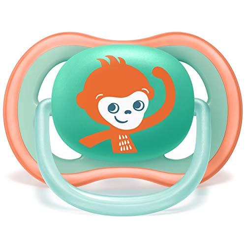 Philips Avent SCF349//21 con estuche de esterilizaci/ón tetina extrafirme para 18m+ color verde y naranja apta para la piel sensible Pack de 2 chupetes Ultra Air